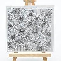 WooYangFun Hintergrund-Stempel zum Basteln von Karten und zum Basteln, Blume, 1Stück