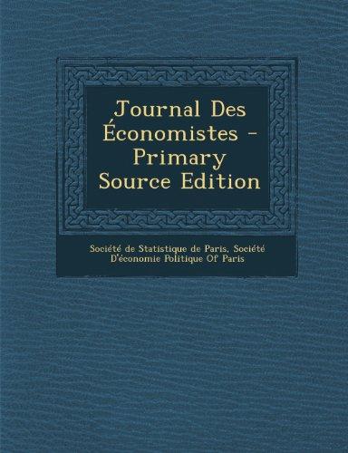 journal-des-economistes-primary-source-edition