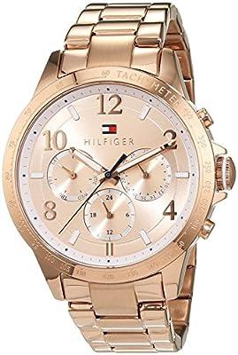 Tommy Hilfiger 1781642 - Reloj de pulsera analógico para mujer (mecanismo de cuarzo, revestido de acero inoxidable)