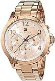 Tommy Hilfiger Damen Analog Quarz Uhr mit Edelstahl beschichtet Armband 1781642