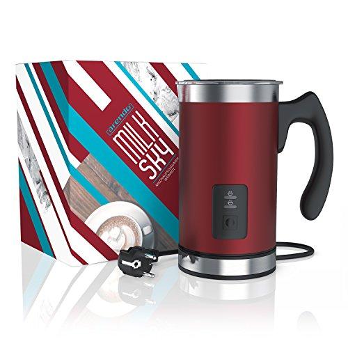 Arendo - Montalatte automatico Milk Frother acciaio inox | per latte caldo e freddo | 115ml | Spegnimento automatico | 20cm x 10cm | Colore Rosso - 6