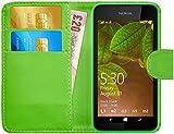 G-Shield Hülle für Nokia Lumia 530 Klapphülle mit Kartenfach - Grün