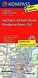 Sachsen-Anhalt Nord - Niedersachsen Ost: Großraum-Radtourenkarte 1:125000, GPX-Daten zum Download (KOMPASS-Großraum-Radtourenkarte, Band 3705)