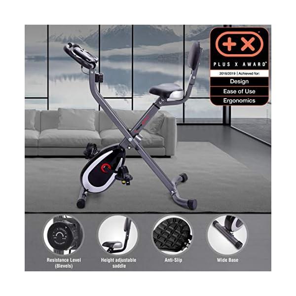 Ultrasport Unisex F-Bike Advanced Exercise Bike, Display LCD, Home Trainer Pieghevole, Livelli di Resistenza Regolabili… 9 spesavip