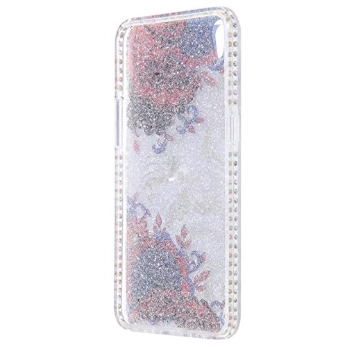 Bling Sparkle Glitter Rhinestone Resin Diamant Schützende Rückseite Cover Case Soft TPU Shell Stoßfänger [Shock Absorbtion] für OPPO R9 ( Color : D ) A