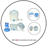 #3: Safe-O-Kid- Baby Feeding Essential- 6-Milk Bottles+Nipples/Teats/Breast Pump/Other accessories - Fast Cycle - Electrical Steam Sterilizer