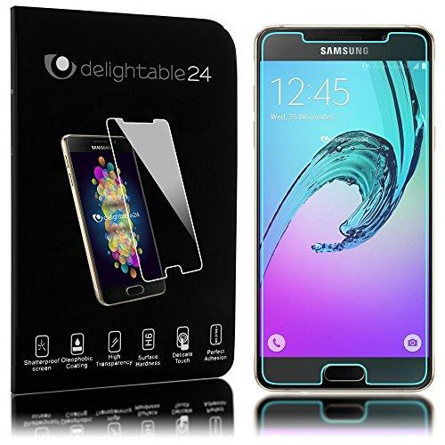 delightable24 Pellicola Protettiva Vetro Temprato Glass Screen Protector Smartphone SAMSUNG GALAXY A3 (2016) - Transparente