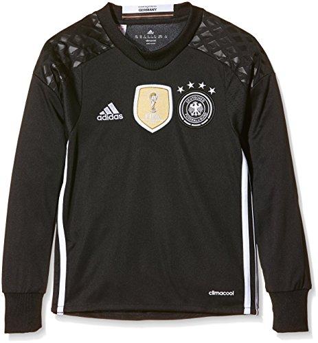 adidas Jungen Torwart-Heimtrikot DFB Replica UEFA Euro 2016, black/white,176, AA0128