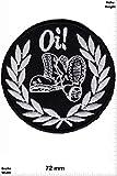 Parches - Oi - Laurel Wreath - Skinheads - Punk - Combat Boots -Punks - No Nazi - Oi - Parche Termoadhesivos Bordado Apliques...