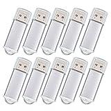 USB-Flash-Laufwerk 128 MB 10 Stück - Mini USB 2.0 Stick - Datarm Silber Speichersticks