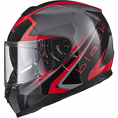 Black Titan SV Edge Motorcycle Helmet M Black/Red