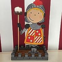 Caballero cruz. Original luz ambiental para dormitorio infantil. Regalo hecho a mano en madera.