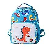 #2: Voberry@ Children Cartoon Dinosaur School Bag Backpack Shoulder Bag for Cute Toddler (, S) Small Sky Blue