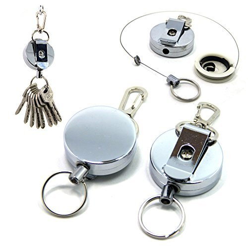 sams-fishing-2-pcs-x-metal-retractable-reel-fly-fishing-zinger-retractor-stainless-cable-zinger-with