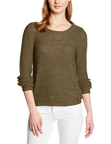 ONLY Damen Onlgeena XO L/S Pullover Knt Noos, Grün (Tarmac), 34 (Herstellergröße: XS)