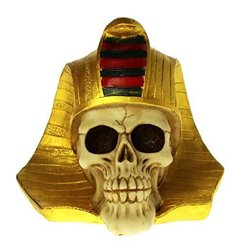 DAJIADS Figur Figuren Statue Statuen Statuette Pharao King TUT Totenkopf Büste Figur Antike Ägyptische König Skelett Skulptur Goldenen Mumie Tod Tutanchamun Pharao Statue (Statue Von König Tut)