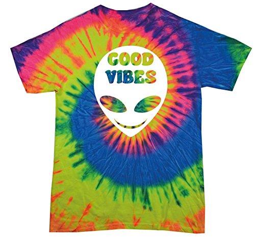 Neon Rainbow Tie Dye (123t Tie Dye Range Herren T-Shirt, Gebatikt NEON RAINBOW)