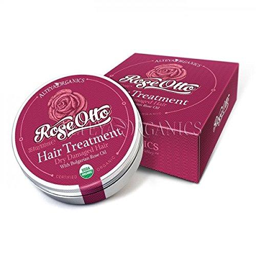 Alteya Bio Haarpflege Rose 40ml – USDA Organic-zertifiziert Rein Natürlich Aufbauend und Belebend...