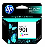 HP 901 CC656AN#140 Tri-Color Ink Cartridge in Retail Packaging at amazon
