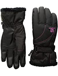 Salomon Force GTX W–Guantes para Mujer, Color, Mujer, Color Black/Rose Violet, tamaño S