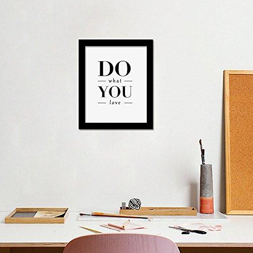 yiyiyaya Waht Ihre Liebe Englisch Zitate Wandbilder Wohnkultur Leinwand Kunstdruck Wand Poster Rahmen Nicht enthalten 50 * 60 cm (Liebe Zitate Halloween Für Ihre)
