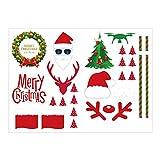 Togelei Weihnachtsaufkleber Kühle DIY Weihnachtsaufkleber-Set Skins Decals Dekorativ für DJI Mavic 2 Pro / Zoom Modellflugzeug Hubschrauber-Spielzeugfernsteuerungsspielwaren