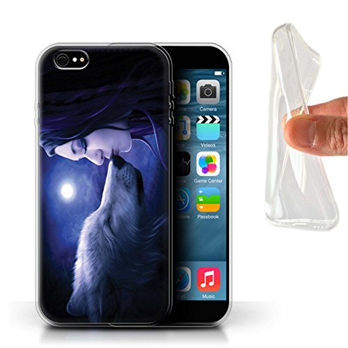 Officiel Elena Dudina Coque / Etui Gel TPU pour Apple iPhone 6S+/Plus / Par le Vent Design / Un avec la Nature Collection Baiser de Lune