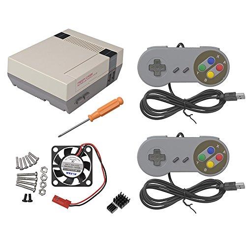uniquegoods Retroflag Nespi Case Kit für Raspberry3, 2 und B + & Geschenk Lüfter (KIT B) (Nes Pi Case Raspberry)