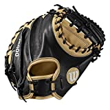 Wilson A2000 Baseballhandschuh Serie, Herren, 2019 A2000 CM33 33' Catcher's Baseball Mitt - Right Hand Throw, Blonde/Black - Catcher's Model, 33'
