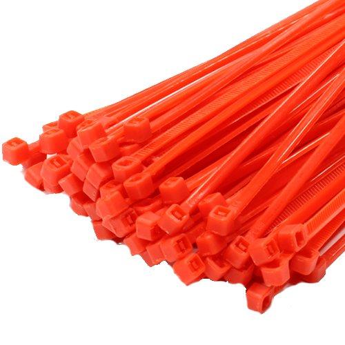 100x 140mm x 3,6mm rojo alta calidad bridas de plástico nailon con cremallera Tie Wraps