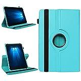 NAmobile Tablet 360° Drehbar Hülle für Odys Wintab Ares 9 Tasche Schutzhülle Case Cover, Farben:Türkis