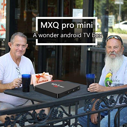 Leelbox MXQ PRO mini Android tv Box eingebaut mit NEUSTem S905x Chipsatz/Quad Core Prozesser/Kodi 16.1/Android 6.0/2.4G Wi-Fi/1GB Ram+8GB Flash unterstützt HDMI 2.0 beide 4Kx2K und 3D Effekt updaten von mxq pro Streaming-Clients - 2