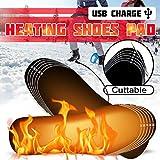 ENticerowts 1 Paar beheizte Einlegesohlen für den Winter, elektrisch beheizt, Fußschuhe, Wärme, USB Heizkissen, weich und bequem, PVC, Schwarz, S