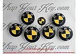 Schwarz und Gelb Carbon Badge Emblem Overlay puze Trunk Felgen passend für alle