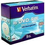 DVD-RW 4X 4.7GB 5PK 5PK JEWELCASE