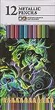 Lot de 12 crayons de couleur intenses métallisés pour artistes coloristes de couleurs assorties