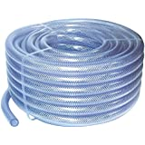 LIFEPLAST 0.5 inch 15 meter Transparent PVC Braided Pipe