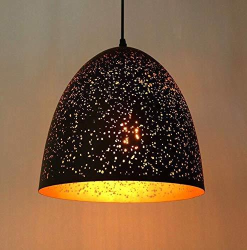 Nachtlicht Wandleuchte Led Lampe Vintage Deckenleuchte E27 Hohle Pendelleuchte Finish mit Schwarz Metallform für Loft Bar Restaurant Esszimmer Kaffee Küche Drop Licht für Küche Schlafzimmer Wohnzimme - - Licht-bad Bar Drop