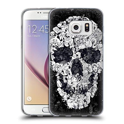 Ufficiale Ali Gulec Doodle Nero Il Messaggio Cover Morbida In Gel Per Samsung Galaxy S7 - Doodle Ali