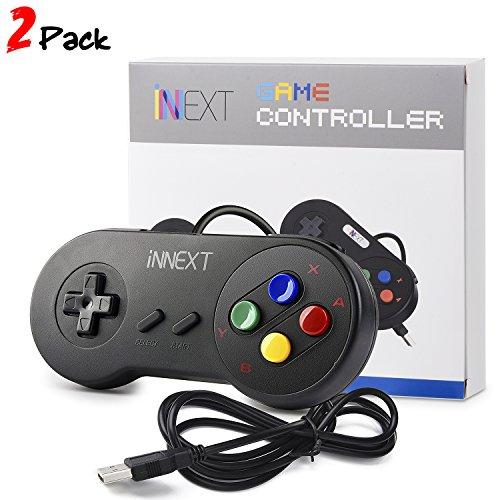 INNEXT 2x Nueva Retro USB Súper SNES controlador