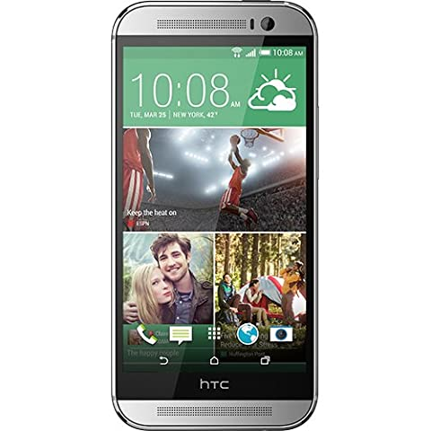 HTC One (M8) Smartphone (12,7 cm (5 Zoll) LCD-Display, Quad-Core, 2,3GHz, 2GB RAM, 5 Megapixel Kamera, FM-Radio, Android 4.4.2) silber -