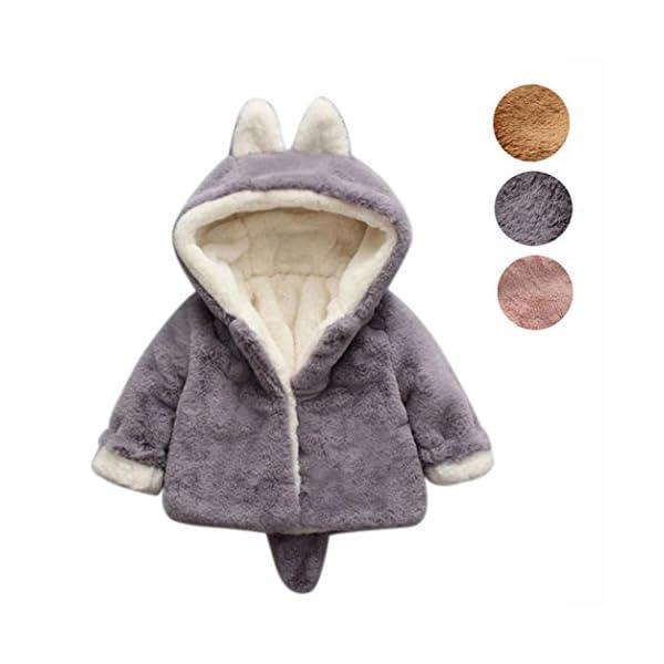 Ropa Bebé, Amlaiworld Bebé niño niña de otoño Invierno Encapuchados Abrigo Capa Chaqueta Gruesa Ropa Caliente 0-36 Mes