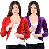 NumBrave Red and Purple Velvet Women's S...