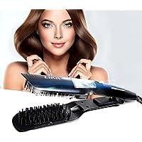Plancha de pelo, Alisador de pelo, Likii, Cepillo vapor alisador, Peine con pantalla LCD, Alisador de pelo profesional.
