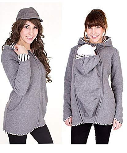 Baby Carrier Hoodies Mäntel, 2 In 1 Frauen Mutterschaft Sweat-Shirts Fleece Känguru-Tasche Mantel Jacke Für Schwangere Tragen Halter Pullover Polar Fleece ()