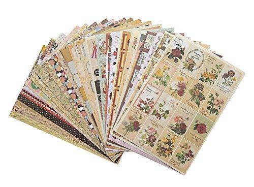 24 Blätter Scrapbook Decoration Sticker Notizbuch-Aufkleber