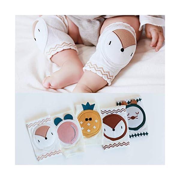 puseky 1 par de Rodilleras para Bebés Unisex Algodón Transpirable Calentador de Piernas Cubierta Protectora de Seguridad… 3