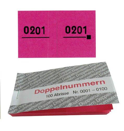 Preisvergleich Produktbild WOLF & APPENZELLER Doppelnummern rot 01-500 5 Blöcke à 100 Abrisse