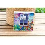 Foto auf Holz, im Quadrat, 9 x 9 cm