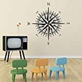 yiyiyaya Compass Rose The Matilda Vinyle Decal pour Les Murs Nord Sud Est Ouest...